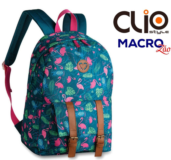 Mochila Flamingo Tropical Cg9250 Clio Juvenil Envio Imediato