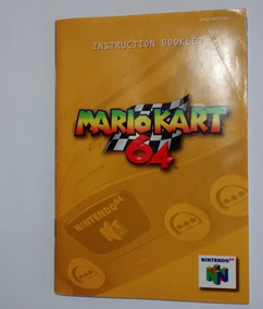 Manual De Intruções Mario Kart Nintendo 64 - Só Manual