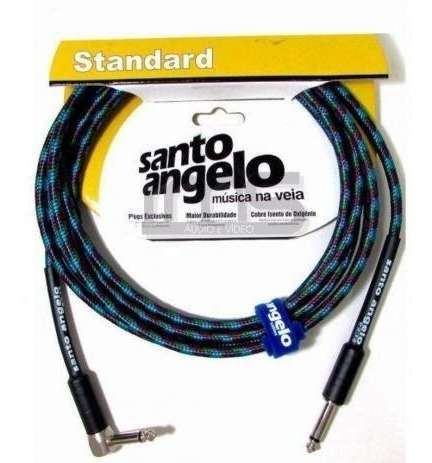 Cabo Guitarra Violao Textil 6.1m Santo Angelo P10 90º 0.30mm