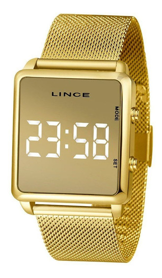 Relógio Feminino Lince Led Mdg4619l-bxkx
