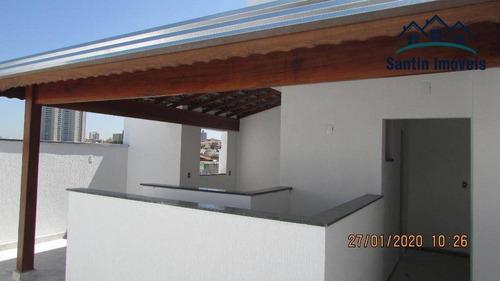Cobertura  Com 02 Dormitórios(01 Suíte )fino Acabamento Residencial À Venda, Vila Pires, Santo André. - Co0202