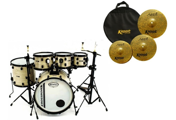 Bateria Rmv Cross Road 3 Tons + Kit Pratos Krest
