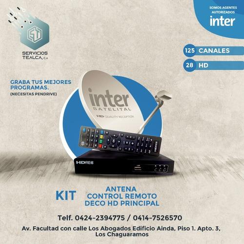 Kit Inter Tv Satelital Nuevo Antena Deco Hd