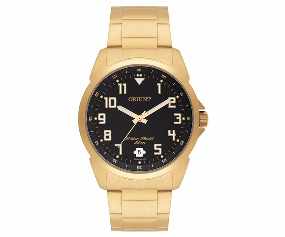 Relógio Masculino Orient Mgss1103a P2kx Analógico Dourado