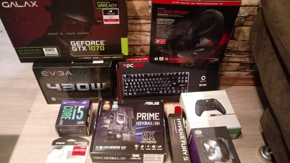 Pc Game Gtx 1070 8gb + 16gb Ddr 4 + Monitor 24p