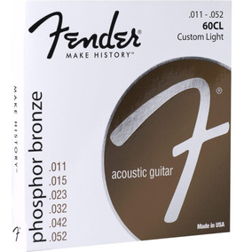 Encordoamento Fender Violão Phosphor Bronze 0.11/0.52 60cl