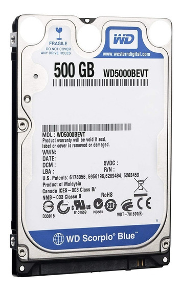 Disco Rigido Notebook 500gb Wd Western Digital Pull