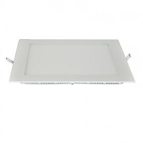 5 Luminária Painel Led Quadrado Embutir 18w Branca C Frete