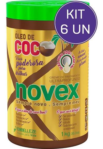 Kit Creme De Tratamento Novex Óleo De Coco 1kg