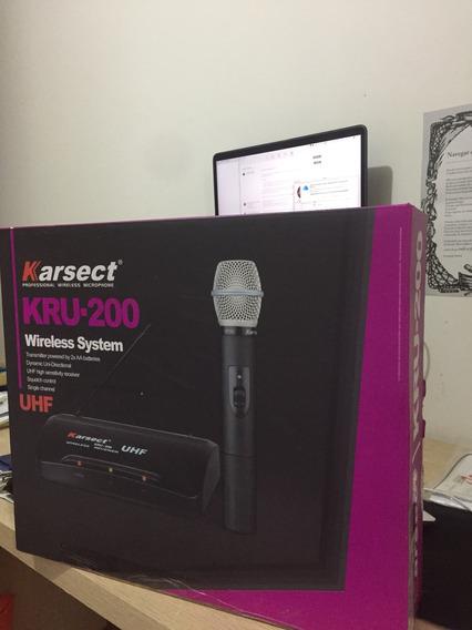 Microfone Headset Sem Fio Karsect Kru-200