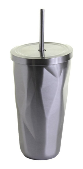 Vaso Acero Inoxidable Termo Tapa Popote Portatil 500ml /e