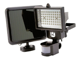 Reflector Solar Led 30w18led Luz + Sensor Movimiento Ext.