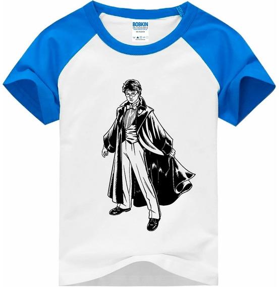 Camiseta Raglan Infantil Harry Potter - Vetor - Hp