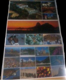 3 Cartões Postais Grandes Nacionais Rio De Janeiro & Brasil