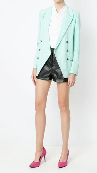 Shorts Pop Up Store! Cintura Alta! Couro! Frete Grátis!