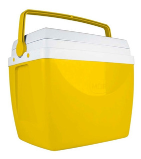 Caixa Térmica Cooler 34 Litros Amarelo Verde Roxo Laranja