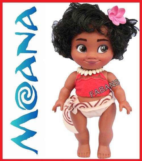 Muñeca Moana Bebe Canta 27cm Princesa Juguetes Niña Fabans