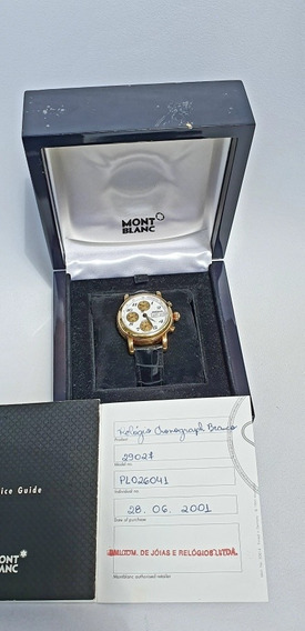Relogio Mont Blanc Meisterstuck Caixa De Ouro