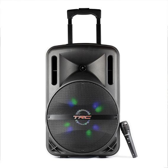 Caixa De Som Portátil Trc 336 Bluetooth 290w Iluminação Led