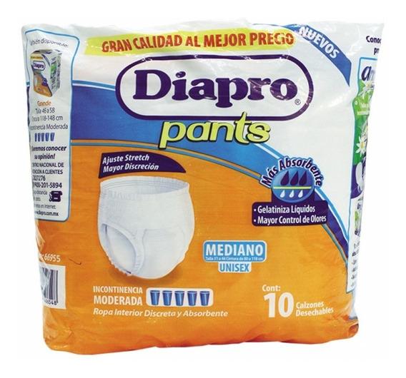 Calzón Diapro Strech Pants Mediano 10 Piezas