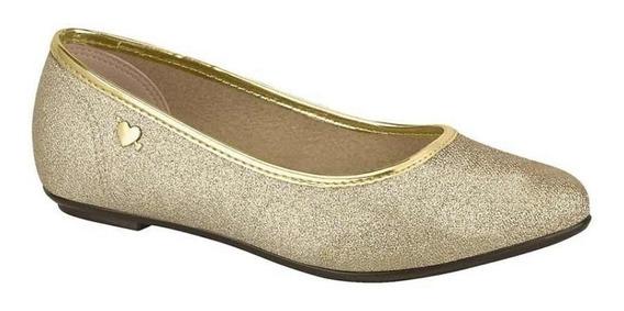 Sapatilha Molekinha Glitter Mini Shine Dourada