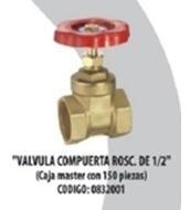 Valvula Compuerta Roscable De 1/2