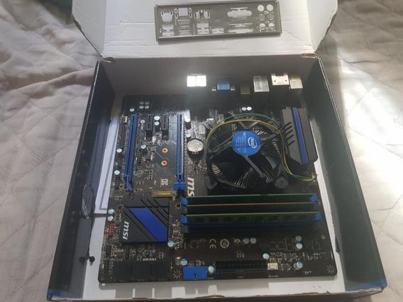 Kit Pc Gamer Placa Mãe Msi H97m-g43 Intel I5 4440 + 12gb Ram