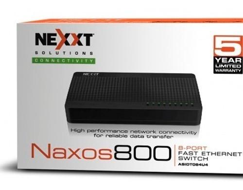 Switch 8 Bocas Puertos Red 10/100 Nexxt Naxos Gtia 5 Años