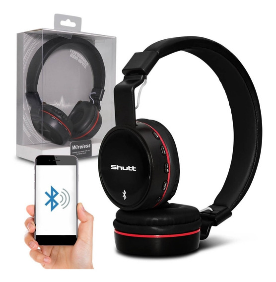 Fone De Ouvido Headphone Bt Basic Wireless Shutt Preto