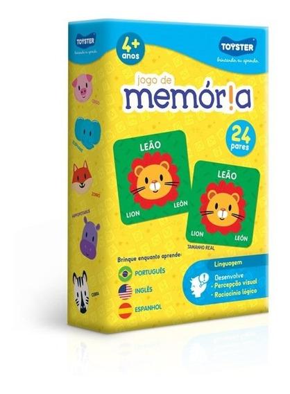 Jogo Memória Português, Inglês, Espanhol Toyster 2566