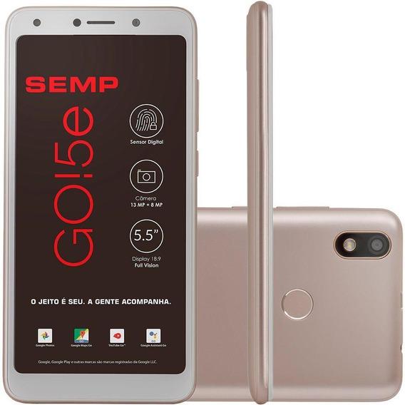 Smartphone Semp Go 5e, Dourado, Tela De 5.5 , 16gb, 13mp