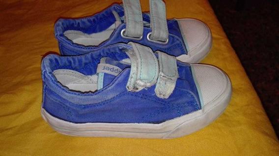 Zapatillas Topper Usadas Con Abrojo De Niño