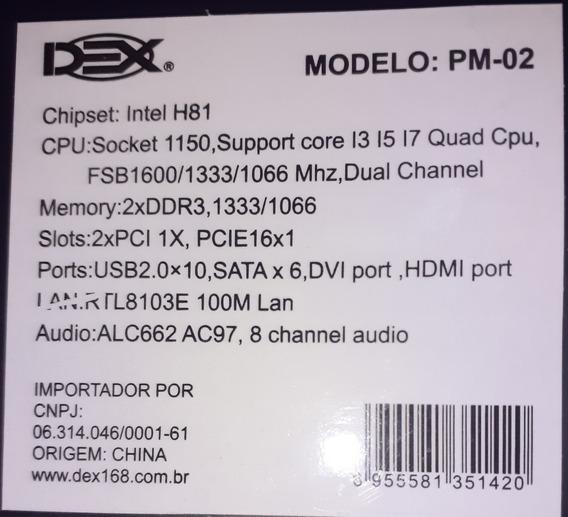 Placa Mae Chipset Socket 1150 Intel 1150 H81 Ddr3 1333/1066