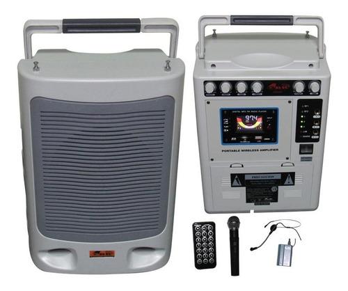 Bafle Portatil Bateria 2 Inalambricos Mp3 Profesional Liquid