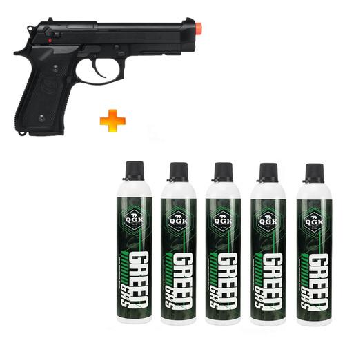 Pistola De Airsoft À Gás Gbb M9a1 Blowback 6mm + 5 Green Gas