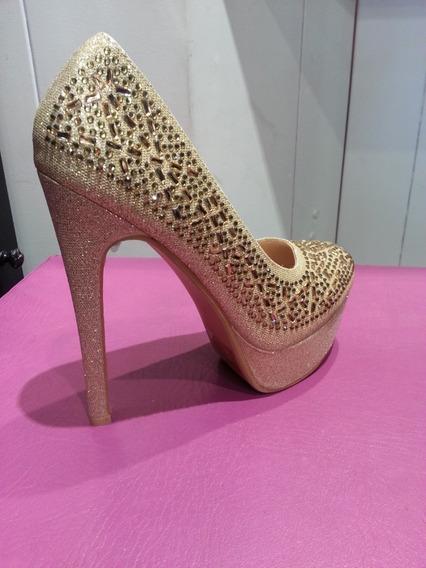Zapato Dama Fiesta Taco Aguja De 15cm Unicos