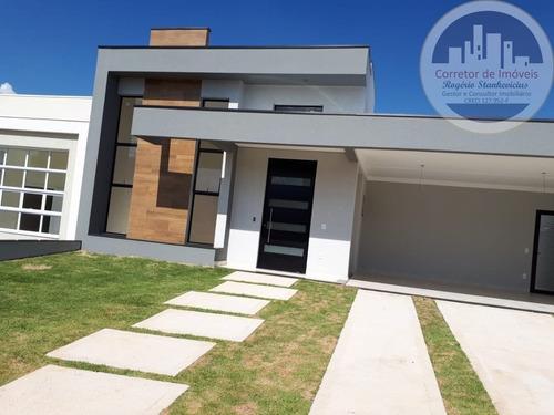 Imagem 1 de 10 de Casa Nova Condominio Jardim Residencial Maria Dulce Com 3 Suites - Ca00055 - 67807938