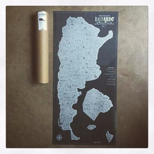 Mapa Raspa Raspadita Scratch Map Argentina Viajeros Mapas