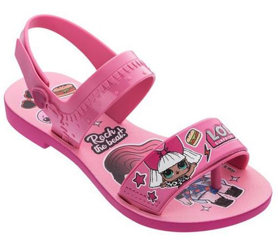 Sandálias Infantil Feminina Lol Diva Bag + Bolsa Tam 23 A 34