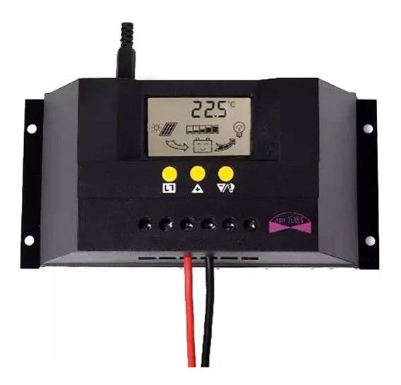 Controlador De Carga P/ Painel Solar 30amperes 12v E 24v 30a