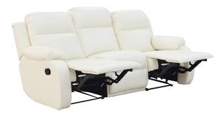 Sofa Reclinable Manual Moderno Atlanta 3 Puestos