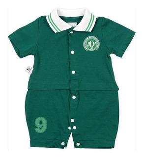 Camisa Chapecoense Macacao Infantil Bebe Verde E Branco Unif