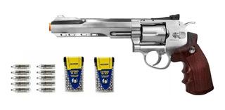 Revólver Pressão Rossi 702 6 P Co2 4.5mm-ñ Tem Ponta Laranja
