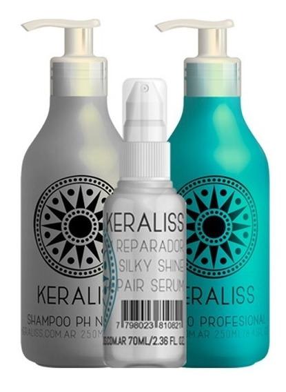Kit Keraliss 2.6 Alisado Serum Shampoo Neutro Definitivo