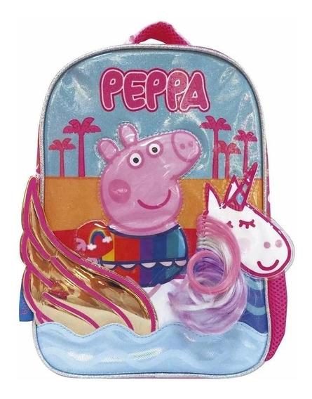 Mochila Espalda Peppa Pig C/unicornio Alas Doradas 12 Pp507