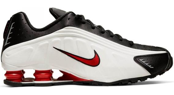 Nike Shox R4 Original Masculino Branco Vermelho Preto Azul