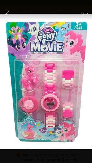 Relógio Infantil Little Pony Com Peças Para Montar