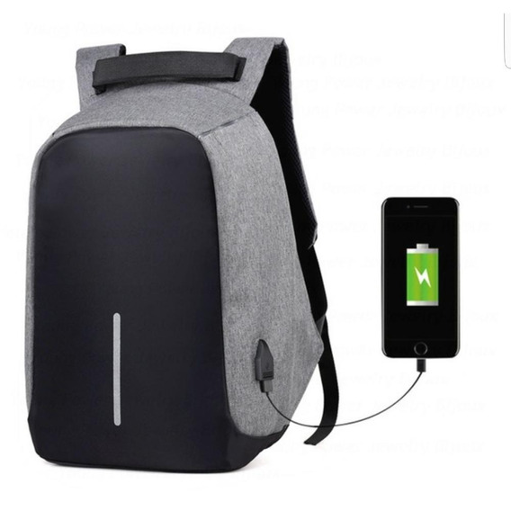 Mochila Antirrobo Premium Smart Bag Para Notebook Carga Usb