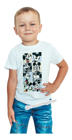 Camiseta Niño Mickey Mouse Moda Lifestyle Poliester Cpr11