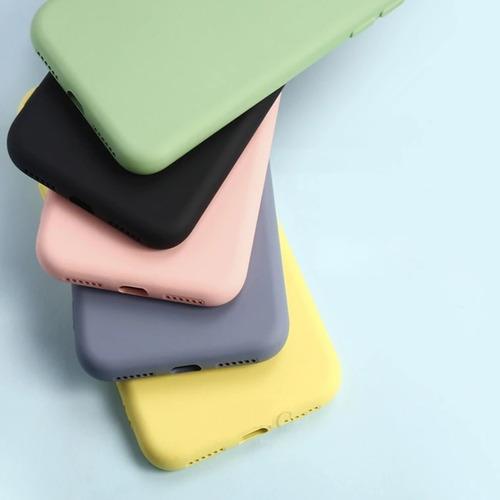 Silicon Case Con Piel Durazno Samsung Galaxy Note 10